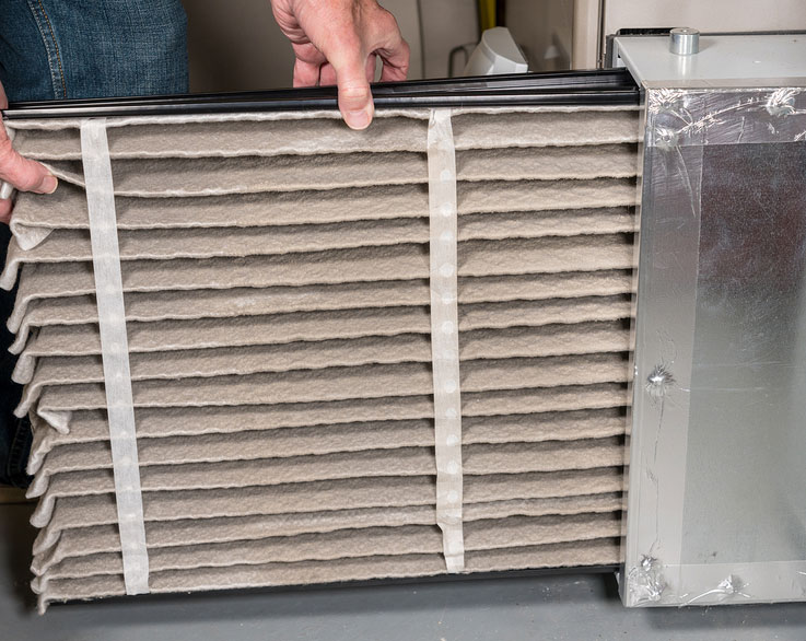 Dirty Furnace Filter